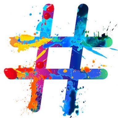 Hashtag-watercolour